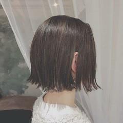 オフィス 冬 フェミニン ボブ ヘアスタイルや髪型の写真・画像