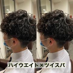 メンズマッシュ メンズパーマ ショート メンズカット ヘアスタイルや髪型の写真・画像