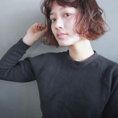 パーマ ウェーブ ラフ ストリート ヘアスタイルや髪型の写真・画像