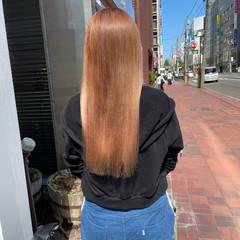 ピンクベージュ ハイトーン ベージュ ナチュラル ヘアスタイルや髪型の写真・画像