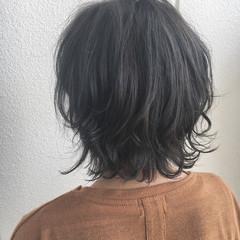 外国人風 ボブ 大人かわいい ウェーブ ヘアスタイルや髪型の写真・画像