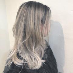 インナーカラー グラデーションカラー バレイヤージュ ユニコーンカラー ヘアスタイルや髪型の写真・画像