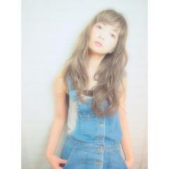 ハイライト 前髪あり ロング 外国人風 ヘアスタイルや髪型の写真・画像