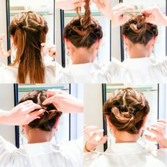 ロング ヘアアレンジ セルフアレンジ セルフヘアアレンジ ヘアスタイルや髪型の写真・画像
