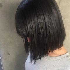 暗髪 黒髪 アッシュ モード ヘアスタイルや髪型の写真・画像