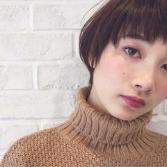 アンニュイ 透明感 ブラウンベージュ ナチュラル ヘアスタイルや髪型の写真・画像