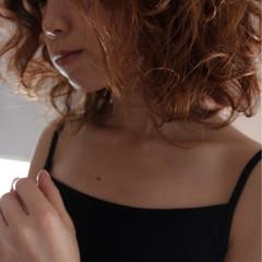 セミロング 外国人風 ヘアメイク ガーリー ヘアスタイルや髪型の写真・画像