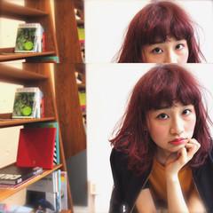暗髪 モード ハイライト ブラウン ヘアスタイルや髪型の写真・画像