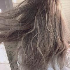 セミロング ストリート ピュア グラデーションカラー ヘアスタイルや髪型の写真・画像