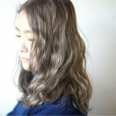 ロング アッシュ 黒髪 ストリート ヘアスタイルや髪型の写真・画像
