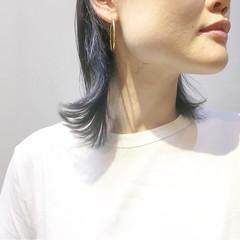 ストリート ネイビーブルー ネイビージュ ネイビーアッシュ ヘアスタイルや髪型の写真・画像