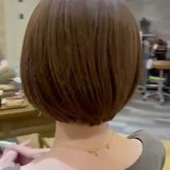 ボブ ショートボブ シアーベージュ ハイトーンボブ ヘアスタイルや髪型の写真・画像