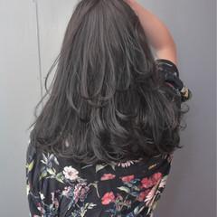 ナチュラル 外国人風カラー グレージュ ロング ヘアスタイルや髪型の写真・画像