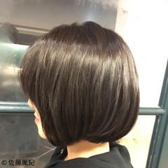 透明感 ボブ 外国人風カラー 艶髪 ヘアスタイルや髪型の写真・画像
