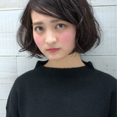 黒髪 大人かわいい ゆるふわ ストリート ヘアスタイルや髪型の写真・画像