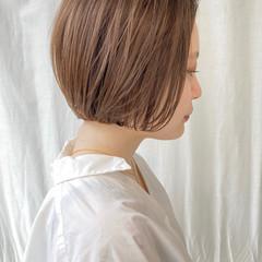 ショートヘア ミニボブ ナチュラル 外ハネボブ ヘアスタイルや髪型の写真・画像