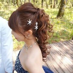 結婚式髪型 結婚式ヘアアレンジ ふわふわヘアアレンジ エレガント ヘアスタイルや髪型の写真・画像