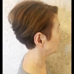 ショート 坊主 くせ毛風 個性的 ヘアスタイルや髪型の写真・画像