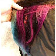 ハイトーンカラー グラデーションカラー ストリート セミロング ヘアスタイルや髪型の写真・画像