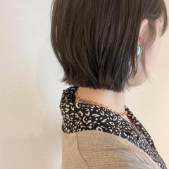 ミニボブ 極細ハイライト ショートボブ インナーカラー ヘアスタイルや髪型の写真・画像