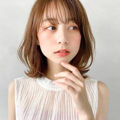 レイヤーカット ウルフカット オレンジベージュ 韓国ヘア ヘアスタイルや髪型の写真・画像