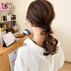 ヘアアレンジ ふわふわヘアアレンジ ナチュラル 結婚式ヘアアレンジ ヘアスタイルや髪型の写真・画像