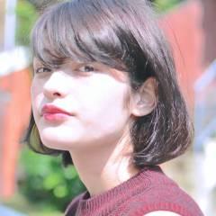 ふわふわ ストリート 外国人風 ボブ ヘアスタイルや髪型の写真・画像