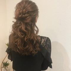 ねじり ヘアセット お団子アレンジ 結婚式 ヘアスタイルや髪型の写真・画像