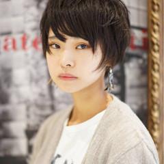 ストリート 前髪あり ピュア 暗髪 ヘアスタイルや髪型の写真・画像