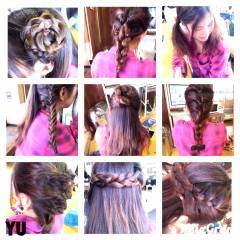 ラフ ロング ゆるふわ 編み込み ヘアスタイルや髪型の写真・画像