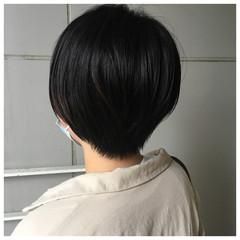 黒髪 ショート マッシュショート ナチュラル ヘアスタイルや髪型の写真・画像