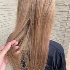 シアーベージュ ナチュラル ベージュ ロング ヘアスタイルや髪型の写真・画像