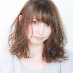 ミディアム 愛され ピュア モテ髪 ヘアスタイルや髪型の写真・画像