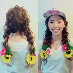 ヘアアレンジ ルーズ 編み込み ロング ヘアスタイルや髪型の写真・画像