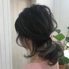 簡単ヘアアレンジ ミディアム ショート ウェーブ ヘアスタイルや髪型の写真・画像