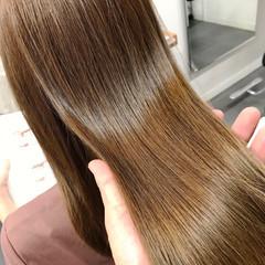 ツヤ髪 ナチュラル 髪質改善カラー ロング ヘアスタイルや髪型の写真・画像