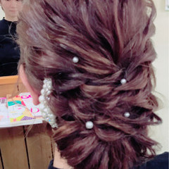 フェミニン ヘアアレンジ シニヨン 大人かわいい ヘアスタイルや髪型の写真・画像