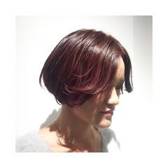 ストリート ハイライト ボブ 外国人風 ヘアスタイルや髪型の写真・画像