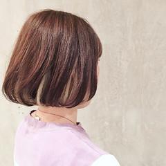 大人女子 ボブ 外国人風 ナチュラル ヘアスタイルや髪型の写真・画像
