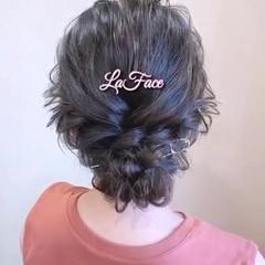 お呼ばれ パーティ ヘアアレンジ フェミニン ヘアスタイルや髪型の写真・画像