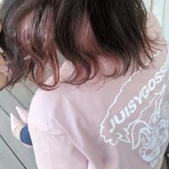 切りっぱなし デート ミディアム 外ハネ ヘアスタイルや髪型の写真・画像