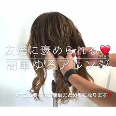 ヘアアレンジ ナチュラル 女子会 デート ヘアスタイルや髪型の写真・画像