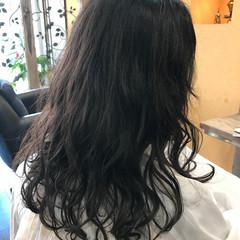 デジタルパーマ ゆるふわ パーマ ロング ヘアスタイルや髪型の写真・画像