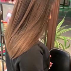 レイヤーロングヘア 大人ロング エアータッチ ストリート ヘアスタイルや髪型の写真・画像