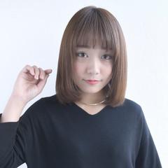 可愛い 艶髪 美髪 ストレート ヘアスタイルや髪型の写真・画像