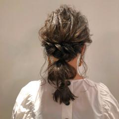 編みおろしヘア 編みおろし 大人かわいい ロング ヘアスタイルや髪型の写真・画像