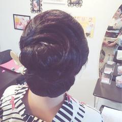 結婚式 ロング 大人かわいい 女子会 ヘアスタイルや髪型の写真・画像