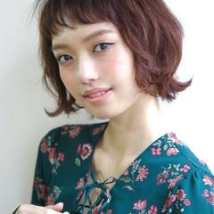 小顔 ショート ボブ モード ヘアスタイルや髪型の写真・画像