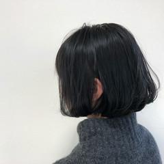 アッシュグレージュ 大人女子 アッシュ ボブ ヘアスタイルや髪型の写真・画像
