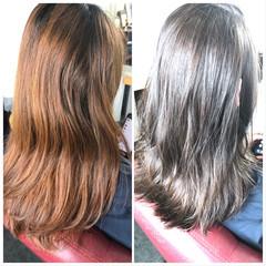 セミロング 透明感 圧倒的透明感 透明感カラー ヘアスタイルや髪型の写真・画像